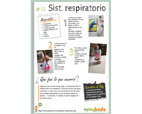 "Ficha STEM ""Sist. Respiratorio DIY"""